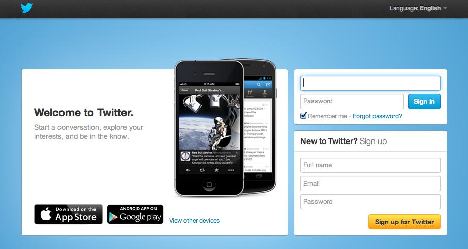 Visit Twitter Official website