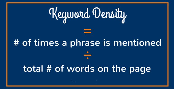 Keyword Density In SEO