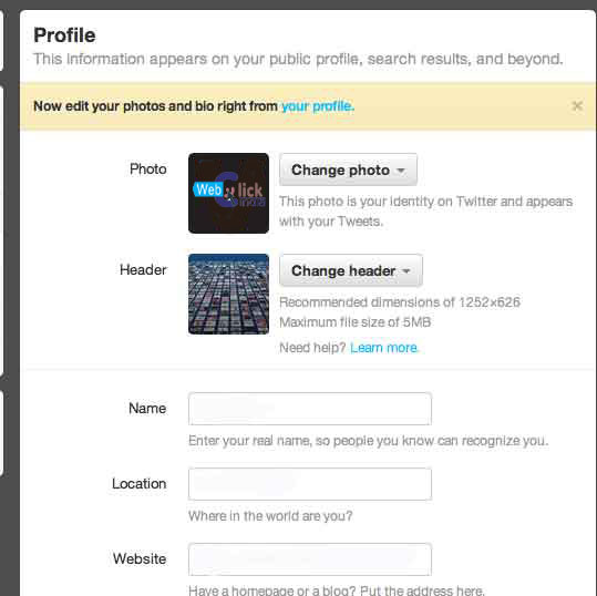 Upload Profile Picture And Header On Twitter